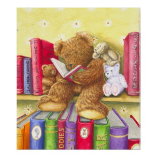Teddies Story Time Print