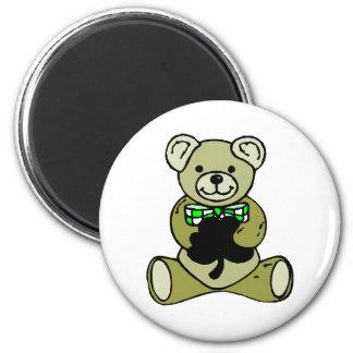 Teddy%20Bear%20&%20Shamrock 2 Inch Round Magnet