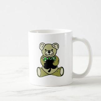 Teddy%20Bear%20&%20Shamrock Classic White Coffee Mug