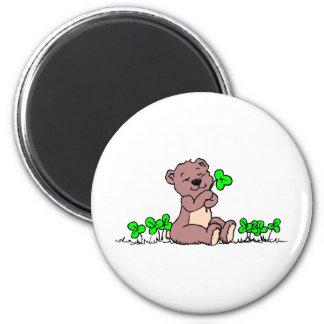 Teddy%20Bear%20&%20Shamrocks%202 2 Inch Round Magnet