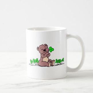 Teddy%20Bear%20&%20Shamrocks%202 Classic White Coffee Mug