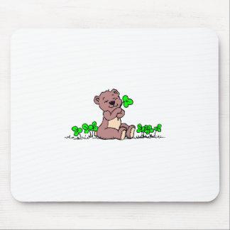 Teddy%20Bear%20&%20Shamrocks%202 Mouse Pad