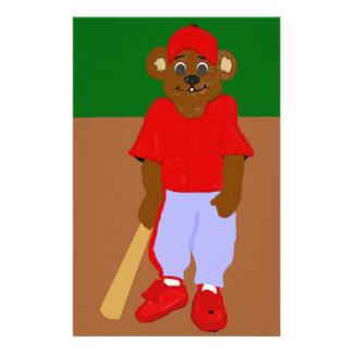 Teddy Ballpark Stationery