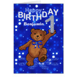 Teddy Bear 1st Birthday for Boy Greeting Card
