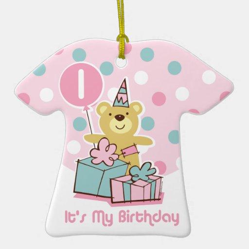Teddy Bear 1st Birthday Ornament