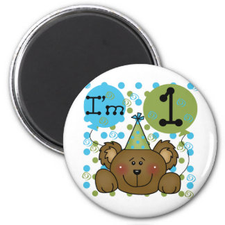 Teddy Bear 1st Birthday Tshirts and Gifts 2 Inch Round Magnet