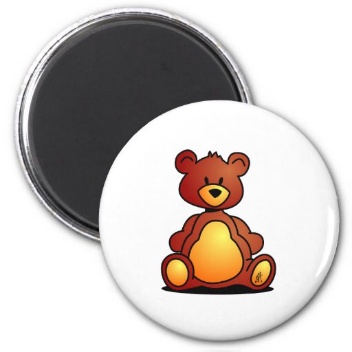 Teddy Bear 2 Inch Round Magnet