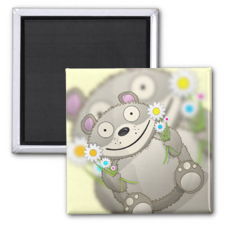 Teddy Bear 2 Inch Square Magnet