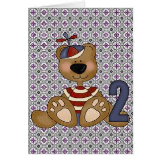 Teddy Bear 2nd Birthday Greeting Cards