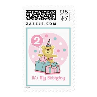 Teddy Bear 2nd Birthday Stamp