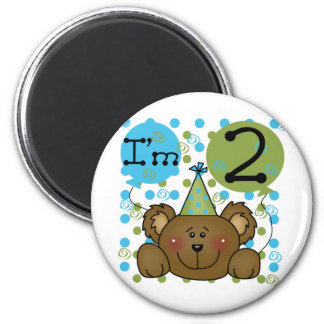 Teddy Bear 2nd Birthday Tshirts and Gifts 2 Inch Round Magnet