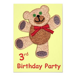 Teddy Bear 3rd Birthday Card