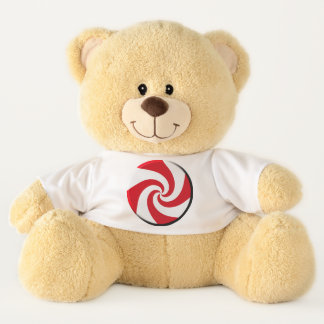 Teddy Bear - 4 Peppermint Swirls