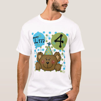 Teddy Bear 4th Birthday T-shirts and Gifts
