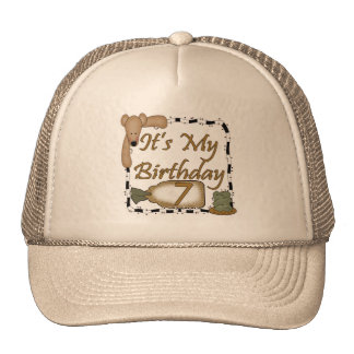 Teddy Bear 7th Birthday Gifts Trucker Hat
