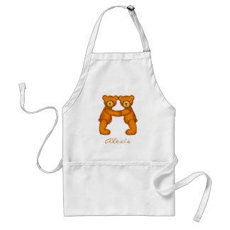 Teddy Bear Alphabet Letter~ Initial A~Apron~Custom Adult Apron