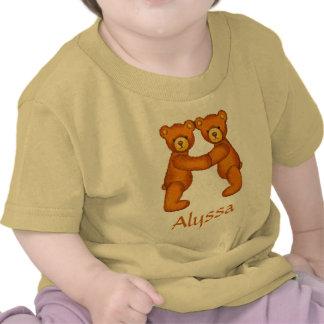 Teddy Bear Alphabet Letter~Initial A~Custom Name Shirt