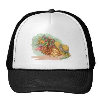 Teddy Bear and Basket of Flowers: Trucker Hat