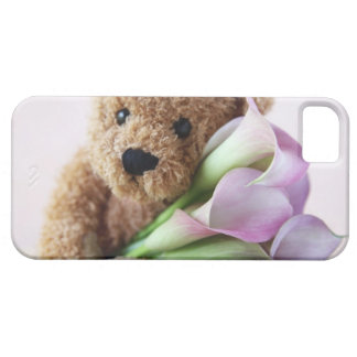 teddy bear and calla lilies iPhone 5 barely there iPhone 5 Covers
