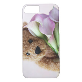 teddy bear and calla lilies iPhone 7 case barely t