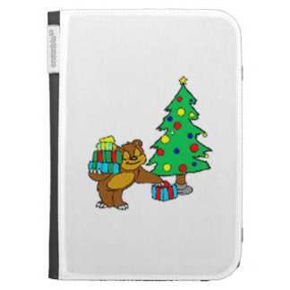 Teddy Bear and Christmas Tree Case For The Kindle