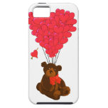 Teddy bear and  heart balloons iPhone 5 cover