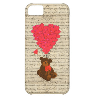 Teddy bear and heart case for iPhone 5C