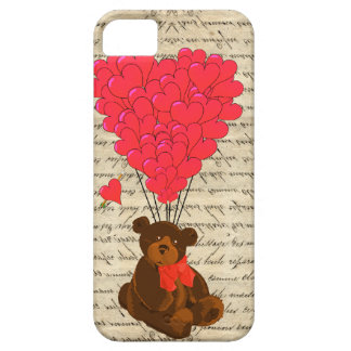Teddy bear and heart iPhone SE/5/5s case