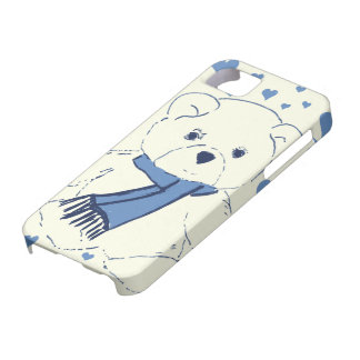 Teddy Bear and Hearts iPhone 5 Covers