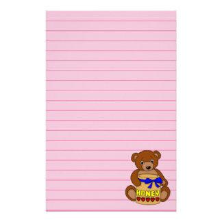 Teddy Bear and Honey Jar Stationery
