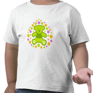 Teddy Bear and Pebbles - Green Tee Shirts
