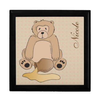 Teddy Bear and the Honey Pot Jewelry Box