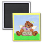 Teddy Bear Angel Refrigerator Magnets