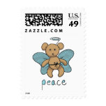 Teddy bear angel stamps