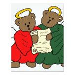 """Teddy Bear Angels 4.25"""" X 5.5"""" Invitation Card"""