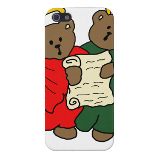 Teddy Bear Angels in Red and Green Choir Robes iPhone SE/5/5s Case