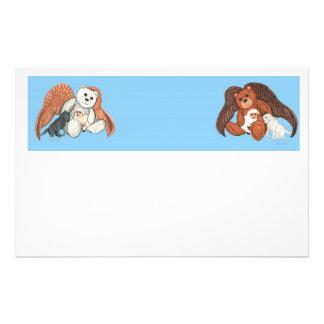 Teddy Bear Angels Stationery Design