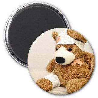 teddy bear animal custom personalize 2 inch round magnet
