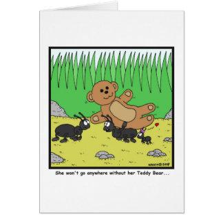 Teddy Bear: Ant cartoon Card