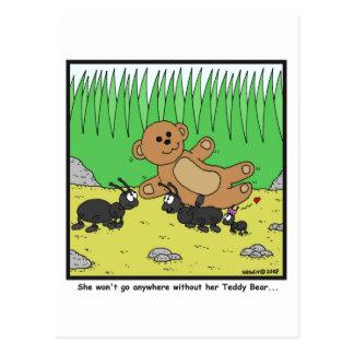 Teddy Bear: Ant cartoon Postcard