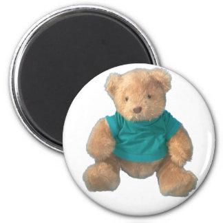 Teddy Bear - Arty 2 Inch Round Magnet