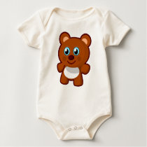 teddy-bear-baby baby bodysuit