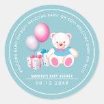 Teddy Bear | Baby Boy Baby Shower  Favor Stickers