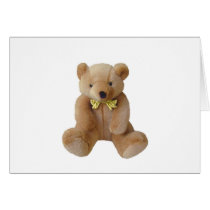 Teddy Bear  Baby Expecting Pregnancy Shower Love Card