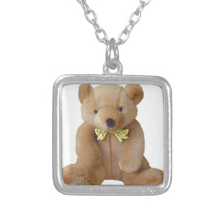 Teddy Bear  Baby Expecting Pregnancy Shower Love Silver Plated Necklace