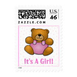 Teddy Bear Baby Girl Stamps