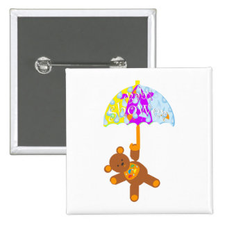 Teddy Bear Baby Shower Button