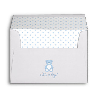 Teddy Bear Baby Shower Envelope