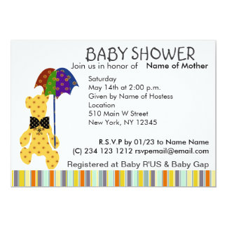 Teddy Bear Baby Shower Invitation
