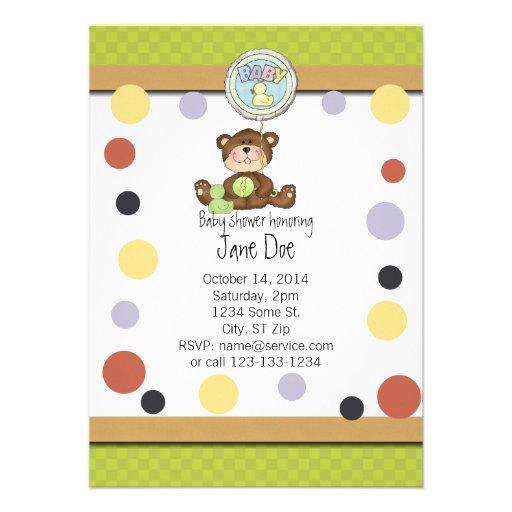 teddy bear baby shower invitation zazzle